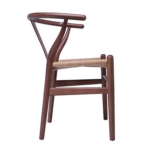 Juego de 2 sillones de Madera Wishbone con reposabrazos ...
