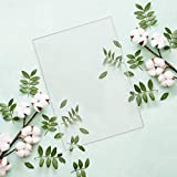 Worown 12 Pieces Transparent Acrylic Sheets (5 inch x 7 inch) 0.08inch Thick for Picture Frame Glass Replacement, Table Signs, Calligraphy and Painting