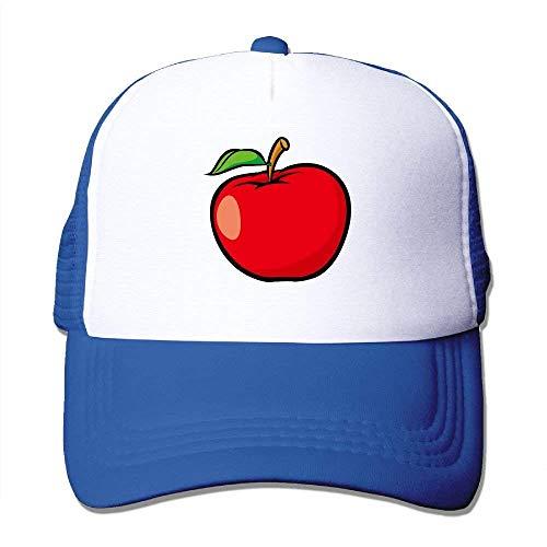 (Red Apple Clipart Adjustable Sports Mesh Baseball Caps Trucker Cap Sun Hats)