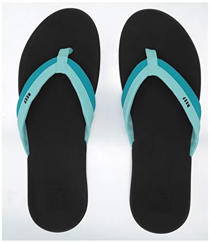 (REEF Women's Ortho-Bounce Coast Sandals, Aqua, Size 5)