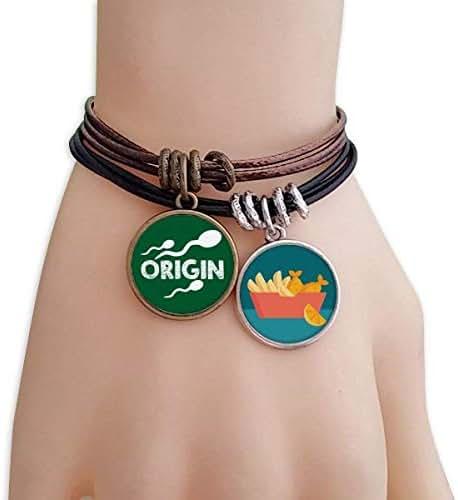 OFFbb-USA Origin Male Sperm Medicine Bracelet Rope Chips Wristband