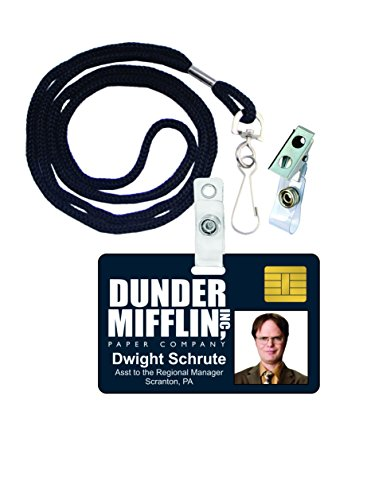 Dwight Schrute The Office Novelty ID Badge Film Prop for Costume and Cosplay • Halloween and Party Accessories]()