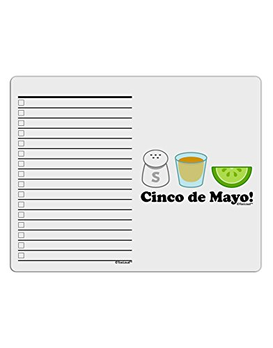 TooLoud Cinco de Mayo Design - Salt Tequila Lime To Do Shopping List Dry Erase Board ()