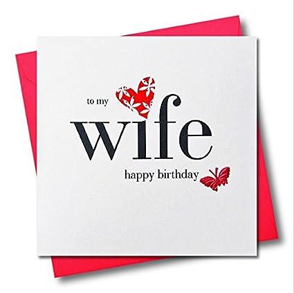 Claire Giles Corazones y Estrellas feliz cumpleaños esposa tarjeta ...