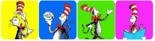 Eureka Cat in The Hat Stickers, 120 Per Pack