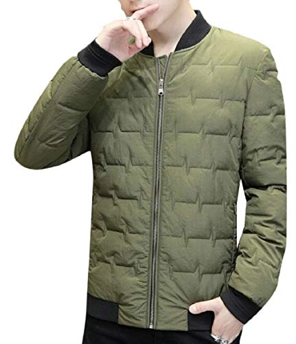 Padded Warm Outwear Jacket Casual Thick security Down Winter Men Green 5CwnqZI
