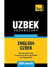 Uzbek vocabulary for English speakers - 3000 words