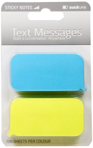 - SUCK UK Text Message Shaped Sticky Notes
