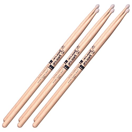 3 Pairs of Pro-Mark PW5AN Japanese White Oak 5A Nylon Tip ()