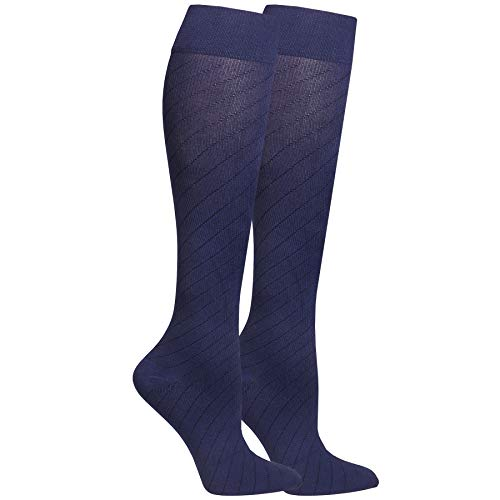 Nuvein Airplane Travel Socks for Women & Men, Flight Circulation Socks for Swelling, Navy, Small ()