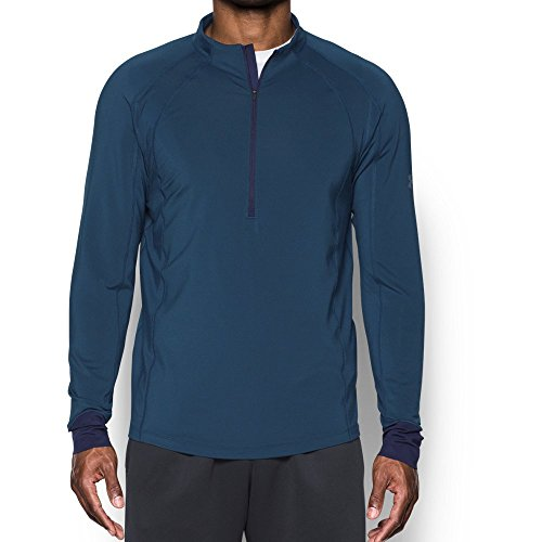 Under Armour Men's ColdGear Reactor Run ½ Zip,True Ink (918)/Reflective, Medium by Under Armour (Image #1)