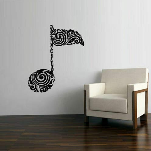 Tomikko Wall Decal Sticker Notes Decor Curly Pattern Art Note Music Bedroom (Z2785) | Model DCR - 713