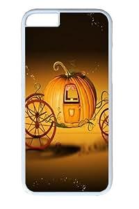 Halloween Pumpkin Car Custom iphone 6 plus 5.5 inch Case Cover Polycarbonate White