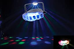 American DJ Jellyfish LED Powered Beam Effect Light With Color Changing Clear Case And 3 Operational Modes
