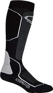 Icebreaker Women's Ski+ Mid OTC Socks (Black/Oil/Silver, Large)