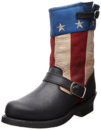 Boot Patriotic Engineer Soho Durango Women's City Black XFwPWqztSx