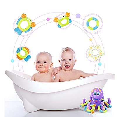 Powbacksy Octopus Bath Toys, Octopus Floating Bathtub Shower Pool Bathroom Toy for Kids: Home & Kitchen