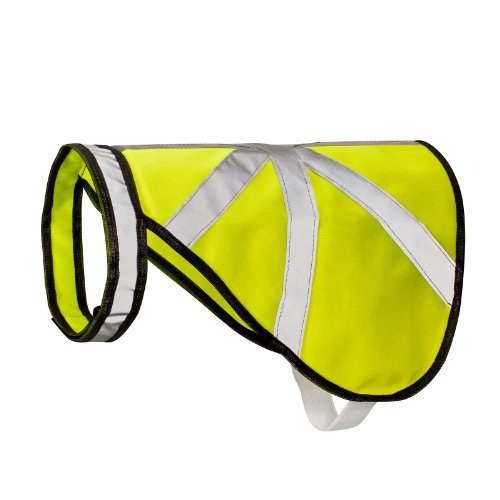 Hunde Warnweste Schutz und Reflektorweste neon Größe L von 2-TECH