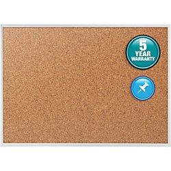 Quartet Office - Quartet Cork Bulletin Board, Cork Board, 3' x 2', Aluminum Frame (2303)