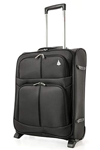 Aerolite Expandable Cabin Luggage Suitcase 55x40x20 to 55x40x23cm 2 Wheel Carry On Hand Luggage