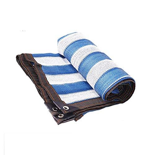 ライオネルグリーンストリートパレード放棄するLIXIONG 日焼け止め シェーディングネット 庭の植物 駐車場 パティオ 青と白 日焼け止め布 通気性のある ルーフ 、120g /㎡ (色 : Blue+white stripe, サイズ さいず : 1.8mx7.8m)
