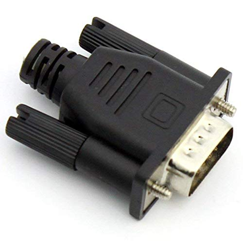 Semoic VGA Virtual Display Adapter Male Dummy Plug EDID Headless Ghost Emulator Lock Plate