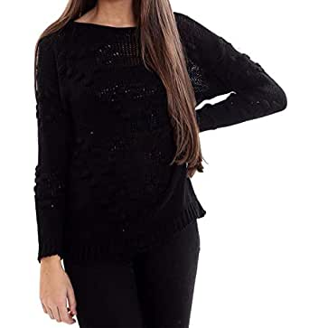 Womens Fancy Long Sleeve Bobble Jumper Ladies Night Party