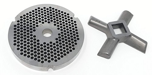 Food Service Knives #32 Meat Grinder Plate (1/4 in. W/ #32 Knife) -