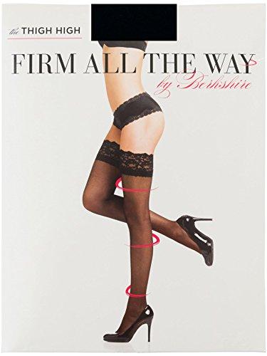 Berkshire Women's Firm All The Way The Thigh High Pantyhose 1376, black 3X-4X -