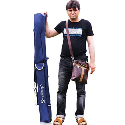 Sougayilang Folding Travel Fishing Pole Bag Rod Reel Tackle Carrier