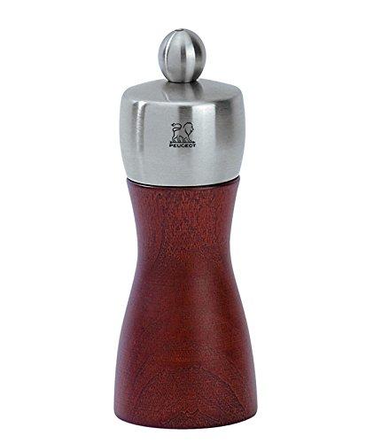 Peugeot 22501 Fidji Pfeffermühle Holz, 5,2 x 5,2 x 12 cm, kirsche