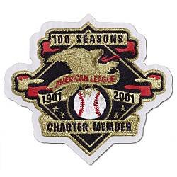 2001 American League 100th Anniversary CHARTER MEMBER MLB Baseball Jersey Sleeve Patch
