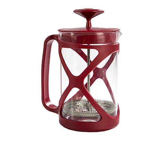 Primula Tempo Coffee Press For Rich, Non-Bitter Coffee French Press Design Easy to Use Makes 6 Cups Red