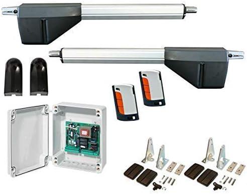 Mecanismo Accionamiento Portón Unidad de Puerta Giratoria Set Puertas de Doble Hoja hasta 5M 400kg 230V: Amazon.es: Bricolaje y herramientas