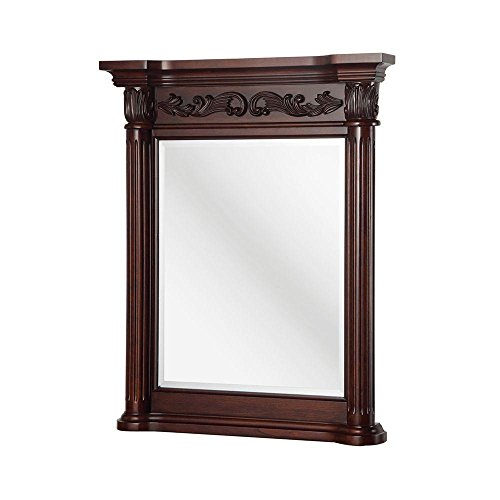 "Foremost ETGM2740 Pegasus Estates 34"" L x 28"" W Wall Mirror in Rich Mahogany"