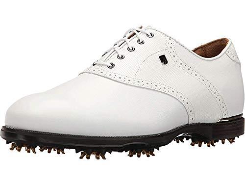 FootJoy Men's ICON Black Golf Shoes White Lizard Print