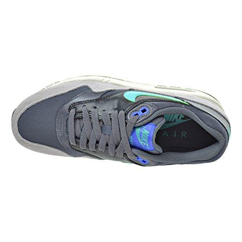 Nike Air Max 1 Delle Donne Essenziali Scarpe Grigio Scuro / Giada Iper / Racer Blu / Nero 599.820-023