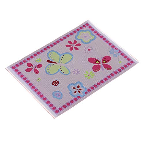 - DYNWAVE 1 12 Scale Carpet Woven Rug Embroidery Cloth Mat for Dollhouse Any Rooms Decor Accessories Kids Pretend Play Toy 1510cm