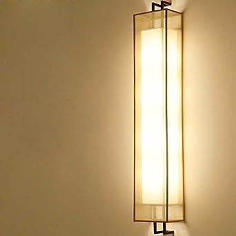 ZhuoYuan Salón chino Apliques Lámparas de cama dormitorio estudio hall escalera al pasillo pasillo lámparas retro apliques de pared de 80 cm de hilo amarillo: Amazon.es: Iluminación