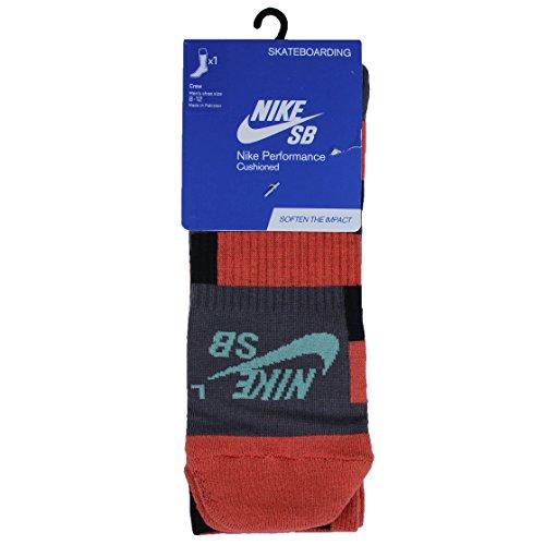 Nike Elite Skate Crew Hommes (L, gris clair cramoisi)