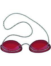 Solarium Schutzbrille rot UV Brille Solariumbrille mit Gummizug, 600015-rot