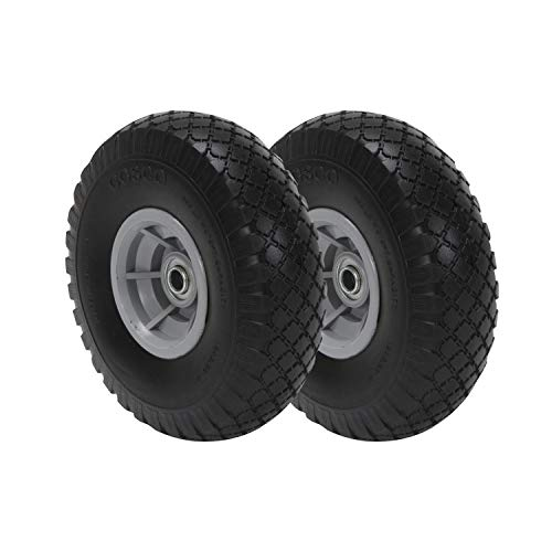 COSCO 10-Inch Flat-Free Replacement Wheel for Hand Trucks, 2-pack (Tires For And Wheels Trucks)