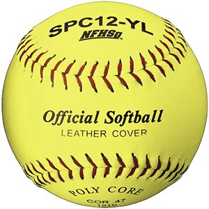 Martin Sports Softball - Optic Yellow, 12'' Leather Cover, NFHS Approved (Pack of 12) by Martin Sports