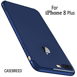 Accessories Innovator Soft Silicon Logo Cut Back Cover Case with Anti Dust Plugs for iPhone 8 Plus – Blue 419xMXm1IlL