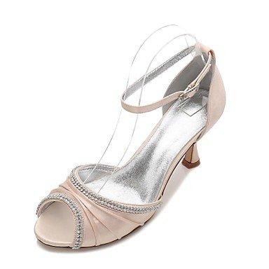 Satin UK6 Summer Heelivory Comfort Bowknot 5 Wedding Dress Wedding Ruby CN40 5 Shoes Spring Blue US8 Rhinestone Women'S amp;Amp; EU39 Party Flat Evening Champagne 6wqXt1x6E