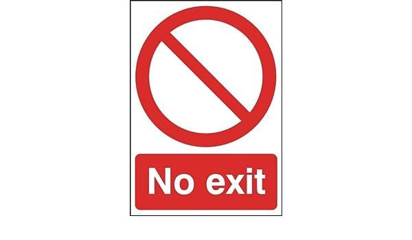 A4 sin salida - carteles - señales de seguridad: Amazon.es ...