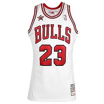 Mitchell & Ness NBA Michael Jordan Chicago Bulls 1998 - Camiseta de baloncesto, Weiß