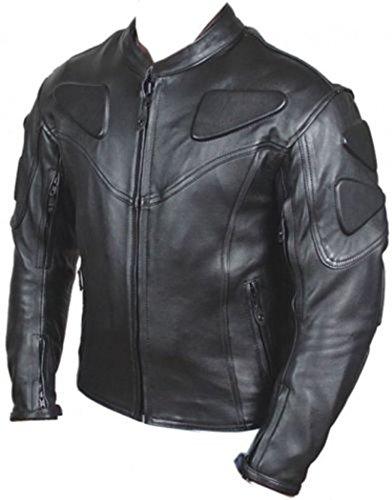 Jacket Large Black Mens Racer New AZ's Leather 6qngHTHWw