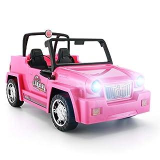 KeepRunning Dolls Accessories - Convertible SUV for Dolls Glittering Fuchsia Convertible Doll Car
