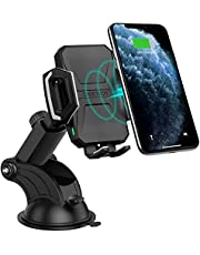 CHOETECH Wireless Car Charger, 10W/7.5W Qi Wireless Fast Charging Car Mount, USB-C Dashboard Phone Holder Compatible with iPhone SE, iPhone 11/11 Pro/11 Pro Max/XS Max, Galaxy S20/S20 Plus/Note10/S10